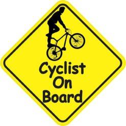 Male Cyclist On Board Sticker