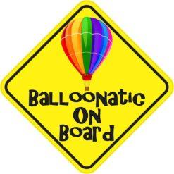 Balloonatic on Board Sticker