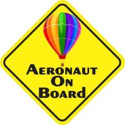 Colorful Aeronaut on Board Magnet