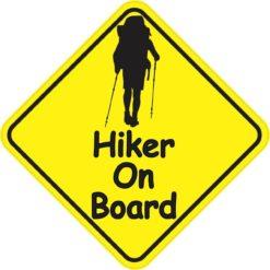 Hiker On Board Sticker