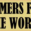 Wheat Farmers Feed the World Bumper Sticker