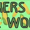 Corn Pattern Farmers Feed the World Magnet