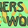 Corn Pattern Farmers Feed the World Bumper Sticker