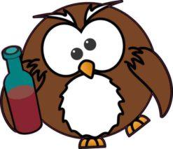 Drunk Owl Sticker