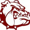 Red and White Bulldog Sticker