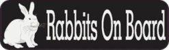Rabbits On Board Bumper Sticker