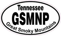 Oval Great Smoky Mountains Sticker