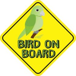 Green Bird On Board Sticker