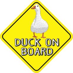 Duck On Board Magnet