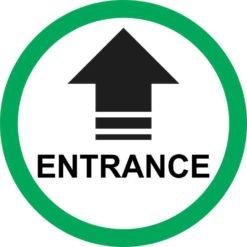 Green Circle Entrance Arrow Sticker