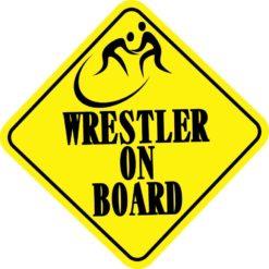 Wrestler On Board Sticker