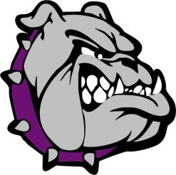 Purple Bulldog Vinyl Sticker