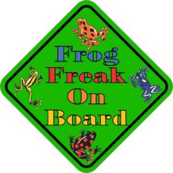 Frog Freak On Board Magnet