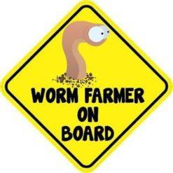 Worm Farmer On Board Magnet