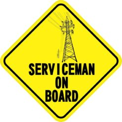 Serviceman On Board Magnet