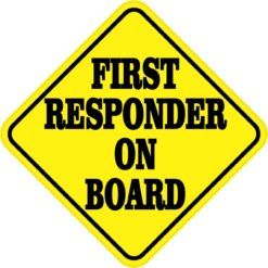 First Responder on Board Magnet