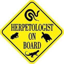 Herpetologist On Board Sticker