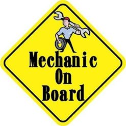 Mechanic On Board Magnet
