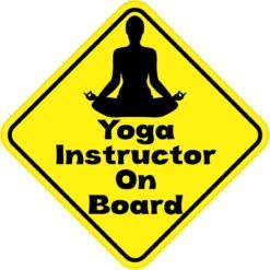 Yoga Instructor On Board Sticker