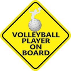 Volleyball Player On Board Sticker