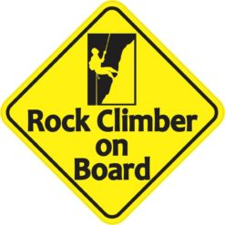 Rock Climber on Board Sticker