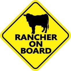 Rancher on Board Sticker