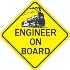 Train Engineer On Board Sticker
