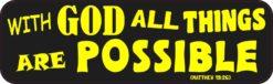 Matthew 19:26 Magnet