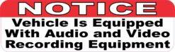 Notice Audio and Video Recording Magnet