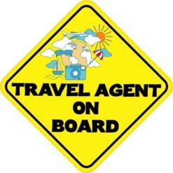 Travel Agent On Board Sticker