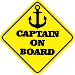 Captain on Board Sticker