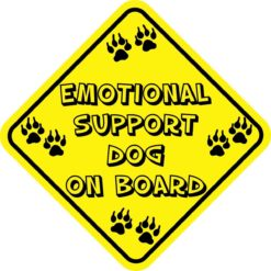 Emotional Support Dog On Board Sticker