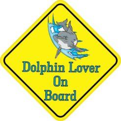 Dolphin Lover On Board Sticker