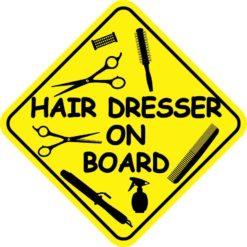 Hair Dresser On Board Magnet
