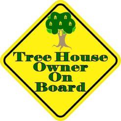 Tree House Owner On Board Sticker