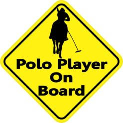 Polo Player On Board Sticker