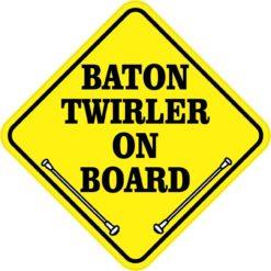 Baton Twirler On Board Sticker