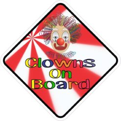 Clowns On Board Magnet