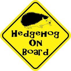 Hedgehog On Board Magnet