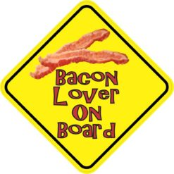 Bacon Lover On Board Sticker
