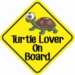 Turtle Lover On Board Sticker