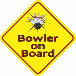 Bowler on Board Sticker