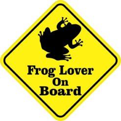 Frog Lover On Board Magnet