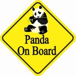 Panda On Board Magnet