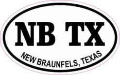 Oval NB TX New Braunfels Sticker