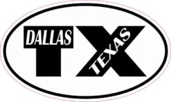 Oval TX Dallas Texas Sticker