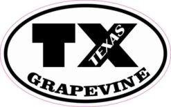 Oval TX Grapevine Texas Sticker