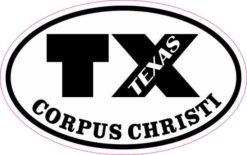 Oval TX Corpus Christi Texas Sticker