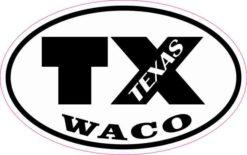 Oval TX Waco Texas Sticker
