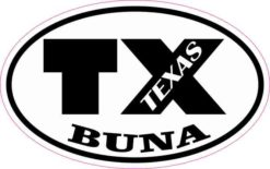 Oval TX Buna Texas Sticker